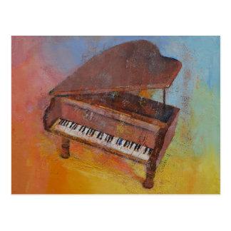 Piano miniatura postal