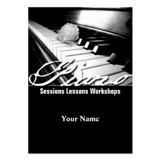 Piano - negocio, tarjeta del horario tarjetas de visita