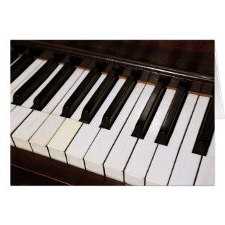 Piano Notecard Tarjeta Pequeña