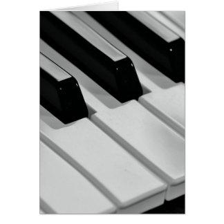 Piano Tarjeta De Felicitación