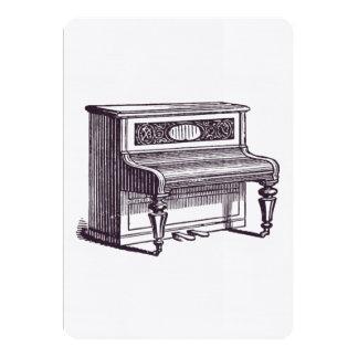 Piano vertical del vintage invitación 12,7 x 17,8 cm
