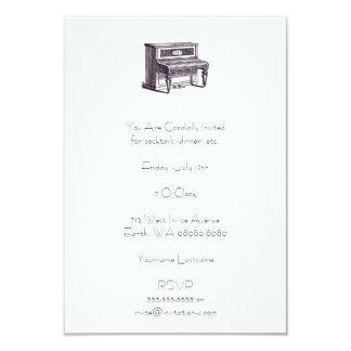 Piano vertical del vintage invitación 8,9 x 12,7 cm