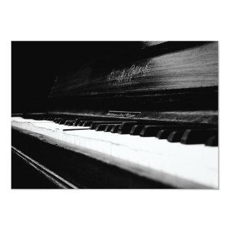 Piano viejo invitación 12,7 x 17,8 cm