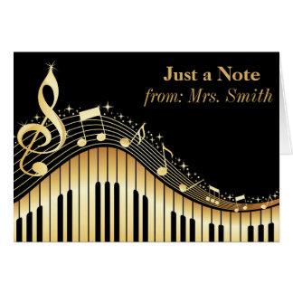 Piano y tarjetas de felicitación personalizadas