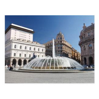 Piazza de Ferrari Génova Postal