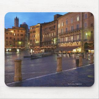 Piazza Del Campo en la oscuridad, Siena Alfombrilla De Ratón