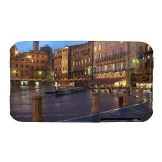 Piazza Del Campo en la oscuridad, Siena Case-Mate iPhone 3 Carcasas