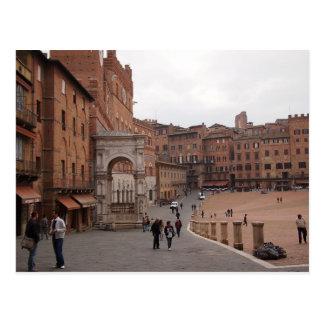 Piazza del Campo, postal de Siena