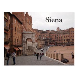 Piazza del Campo, postal del texto de Siena