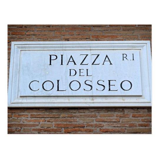 Piazza del Colosseo - postal de Roma, Italia