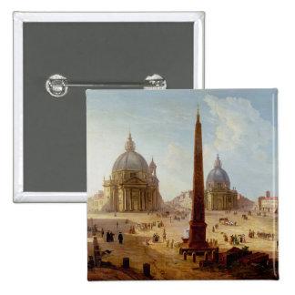 Piazza del Popolo, Roma (aceite en lona) Pin