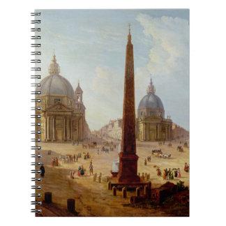Piazza del Popolo, Roma (aceite en lona) Libros De Apuntes