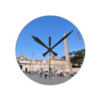 Piazza del Popolo, Roma, Italia Reloj Redondo Mediano