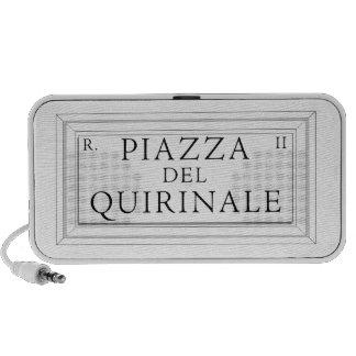 Piazza del Quirinale, placa de calle de Roma Altavoces