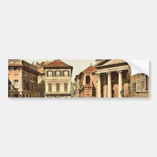 Piazzi del Annunziata, obra clásica Photoc de Géno Pegatina De Parachoque