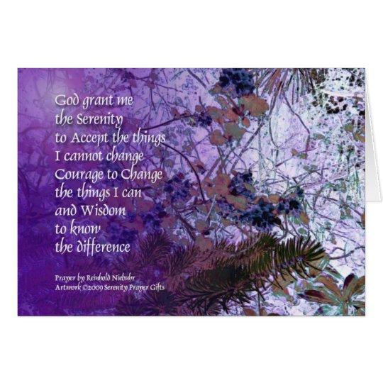 Picea del rezo de la serenidad y tarjeta de Myrtle