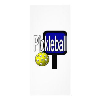 Pickleball, con la imagen del diseño de la bola y  lona publicitaria