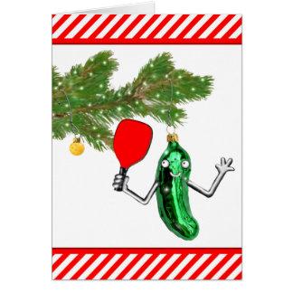 Pickleball divertido tarjeta