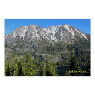 Pico de Jakes por la mañana Póster