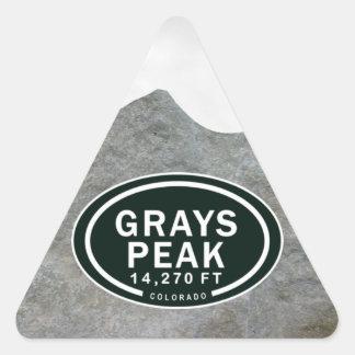 Pico de los grises pegatinas de la montaña de pegatina triangular