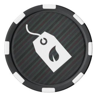 Pictograma ecológico de las cajas juego de fichas de póquer