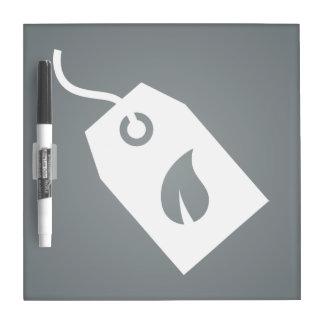 Pictograma ecológico de las cajas tableros blancos