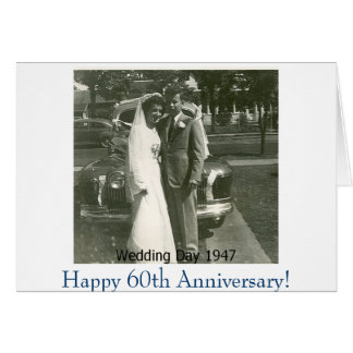 ¡Picture1, 60.o aniversario feliz! Tarjeta De Felicitación