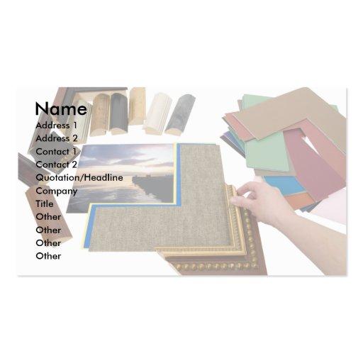 PictureFraming, nombre, dirección 1, dirección 2,  Tarjeta De Visita