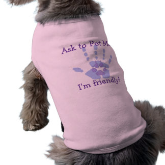 Pida acariciarme camisa del perro camiseta sin mangas para perro