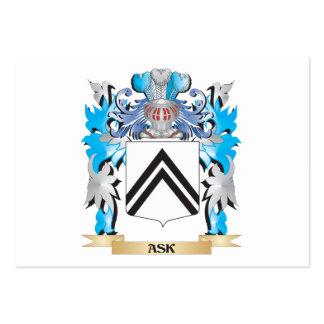 Pida el escudo de armas plantilla de tarjeta de visita