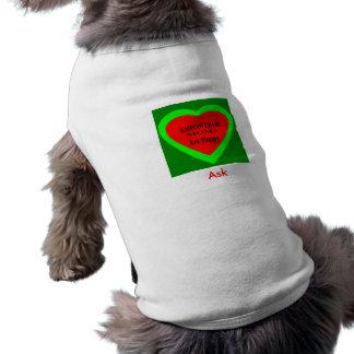 ¡Pida -! UCreate pide el jGibney Zazzle Camiseta Sin Mangas Para Perro