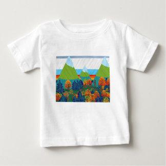 Pie grande camiseta de bebé