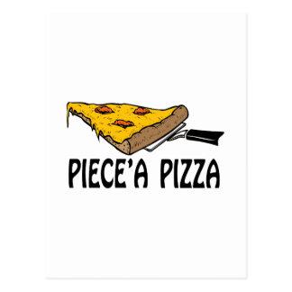 Piece una pizza tarjetas postales