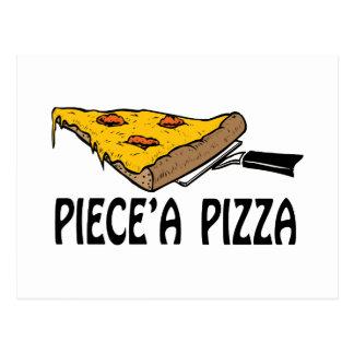 Piece una pizza postal
