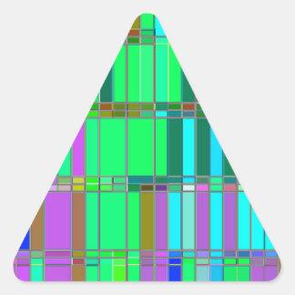 Piedra angular reconstruida calcomania trianguloada