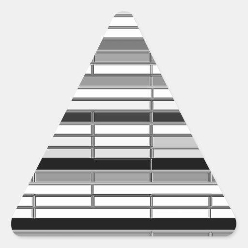 Piedra angular reconstruida calcomanías de triangulos