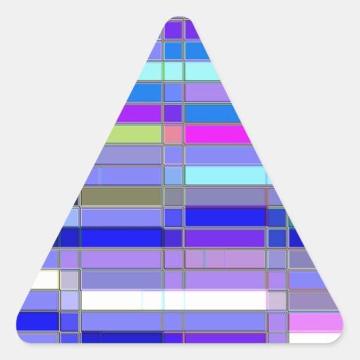 Piedra angular reconstruida pegatinas trianguladas