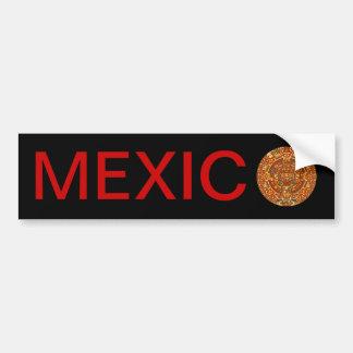 Piedra azteca del calendario o piedra de Sun de Mé Pegatina De Parachoque