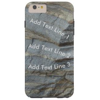 Piedra caliza azul personalizada funda resistente iPhone 6 plus