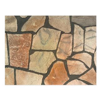 Piedra decorativa que pavimenta mirada postal