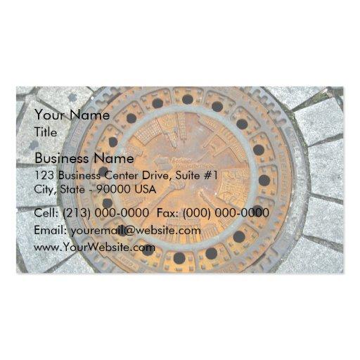 Piedra decorativa plantillas de tarjetas de visita