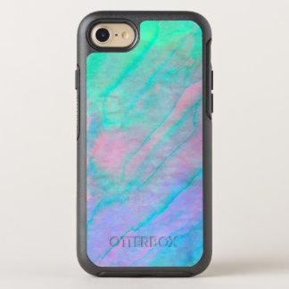 Piedra nacarada de la acuarela de Shell del olmo Funda OtterBox Symmetry Para iPhone 7