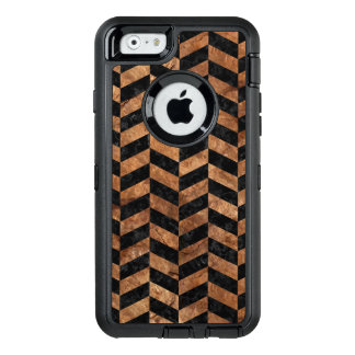 PIEDRA NEGRA DEL MÁRMOL CHEVRON1 Y DE BROWN FUNDA OtterBox DEFENDER PARA iPhone 6