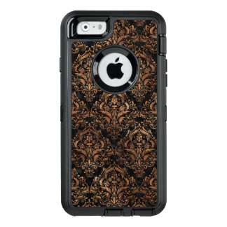 PIEDRA NEGRA DEL MÁRMOL DAMASK1 Y DE BROWN FUNDA OtterBox DEFENDER PARA iPhone 6