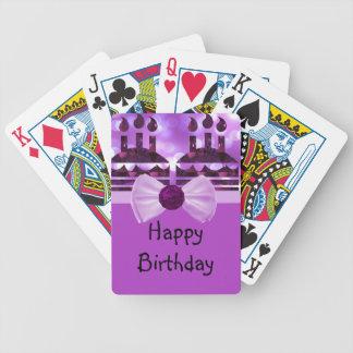 Piedra preciosa de la torta de cumpleaños de baraja de cartas