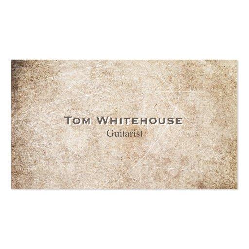 Piedra rústica envejecida simple fresca del beige  tarjetas de visita