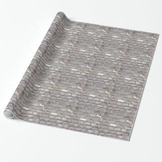 piedras del adoquín papel de regalo