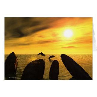 Piedras del delfín tarjeta de felicitación