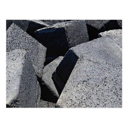 Piedras del dique en la costa de Los Cristianos, T Tarjeta Postal