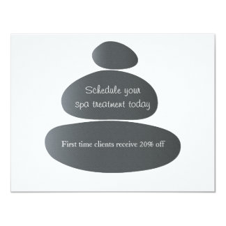 Piedras del masaje anuncio personalizado
